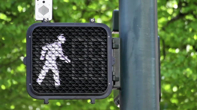 crosswalk signal with timer - crosswalk stock videos & royalty-free footage