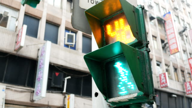 crosswalk traffic light - crossroad stock videos & royalty-free footage