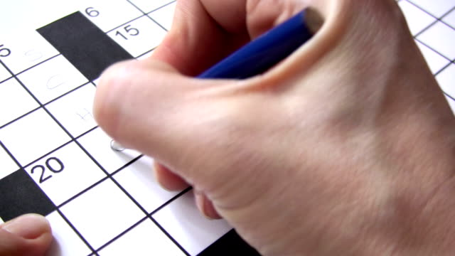 crossword puzzle - crossword stock videos and b-roll footage