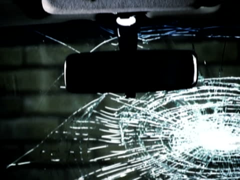 crowbar breaking a car windscreen - iron bars for windows stock videos & royalty-free footage