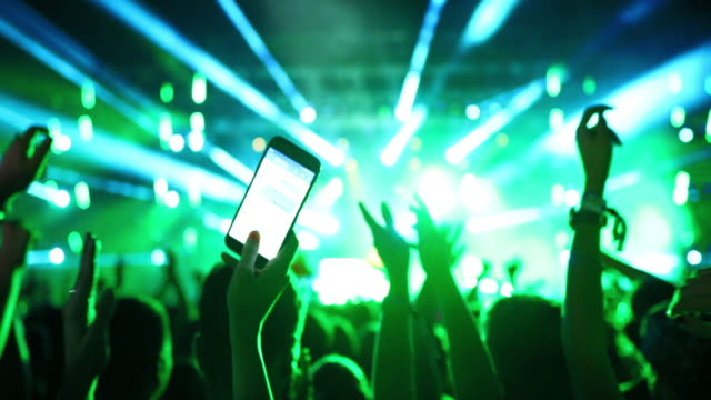 crowd at a concert party. - concert stock videos & royalty-free footage