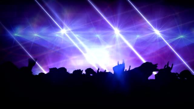 stockvideo's en b-roll-footage met crowd at concert. hd - moderne rock