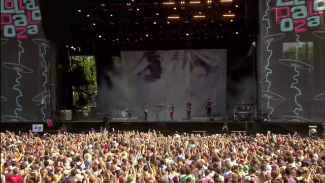 WGN Crowd At Lollapalooza at Grant Park on August 02 2013 in Chicago Illinois