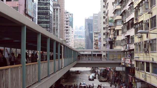 crowd at mong kok market road in hong kong city - mong kok stock videos & royalty-free footage