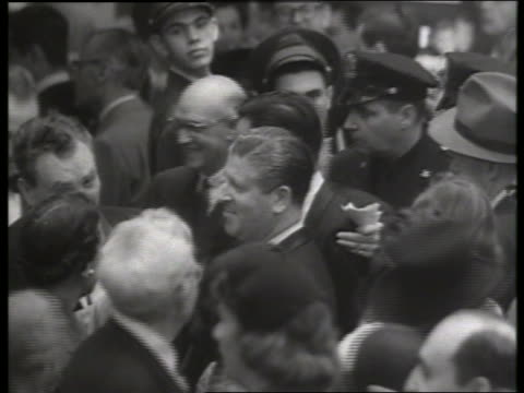 b/w 1954 crowd at movie premiere of thunder bay / no sound - 1954 stock videos & royalty-free footage