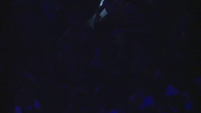 vídeos de stock, filmes e b-roll de slo mo ms ha crowd at rock concert / london, united kingdom - jogando se na multidão