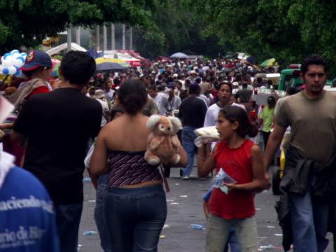Crowd at street fair
