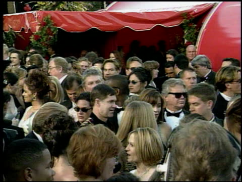 Crowd at the 1998 Academy Awards Arrivals at the Shrine Auditorium in Los Angeles California on March 23 1998