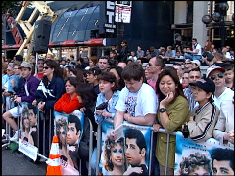 Crowd at the 'Grease' Premiere at Grauman's Chinese Theatre in Hollywood California on March 15 1998