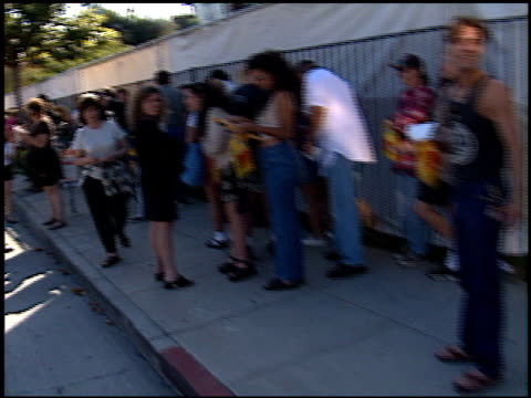 crowd at the rod stewart video and concerts at tower records in los angeles, california on june 2, 1998. - tower records stock videos & royalty-free footage