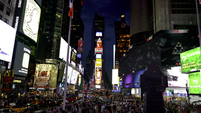 crowd at times suare - times square manhattan stock videos & royalty-free footage