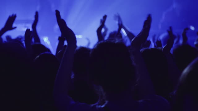 crowd clapping hands on concert - heavy metal stock videos & royalty-free footage