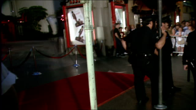 Crowd Cops and Valets Waiting on Red Carpet in Los Angeles California