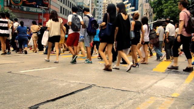 群衆の横断歩道