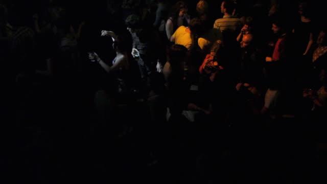 ws ha crowd dancing at nightclub / london, united kingdom - dance floor stock videos & royalty-free footage