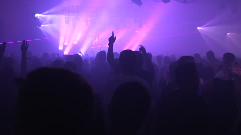 crowd dancing at remembrance festival, wide shot - nightlife stock videos & royalty-free footage
