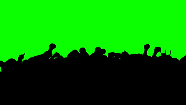 crowd dancing - green screen. hd - matte stock videos and b-roll footage