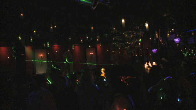 MS Crowd dancing in night club / Miami, Florida, USA