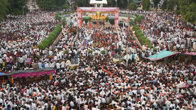 Crowd during ritual celebration and Samudaik Prarthana (Prayer)
