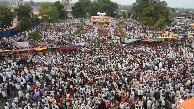 Crowd during ritual celebration and Samudaik Prarthana (Prayer)
