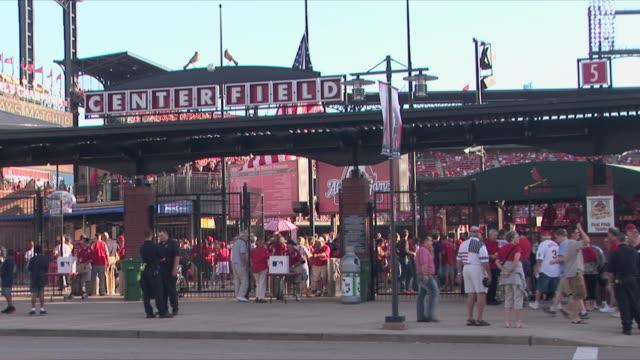 WS Crowd entering in Busch stadium home of St Louis cardinals / St Louis, Missouri, USA