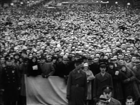pan crowd gathered for inauguration / washington dc - 1933 stock videos & royalty-free footage
