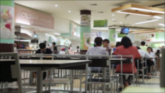crowd if people in the supermarket - canteen stock videos & royalty-free footage