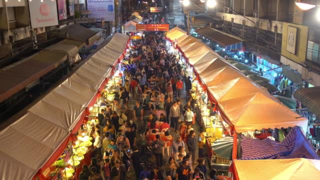 Menschenmenge in Chiang mai-walking Straße, Chinesisches Neujahr