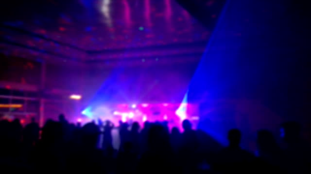 crowd in disco party - club dj stock videos & royalty-free footage