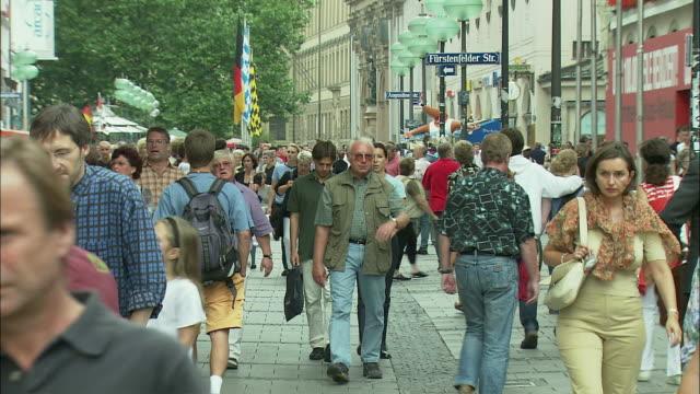 MS Crowd in Marienplatz, Munich, Bavaria, Germany