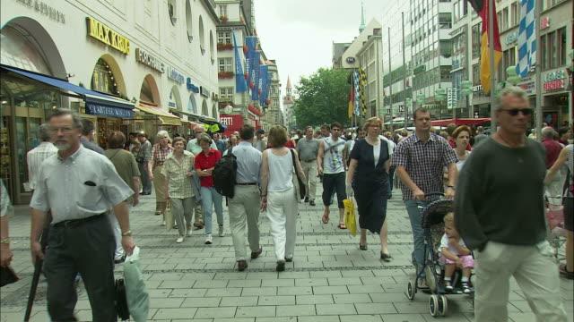 WS Crowd in Marienplatz, Munich, Bavaria, Germany