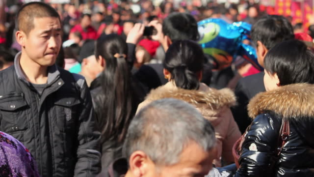 LS Crowd in Temple fair During the Spring Festival/xian,shaanxi,china