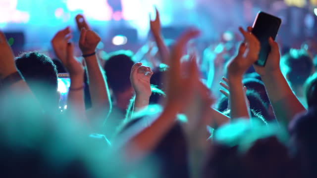 crowd in the rock concert - concert stock videos & royalty-free footage