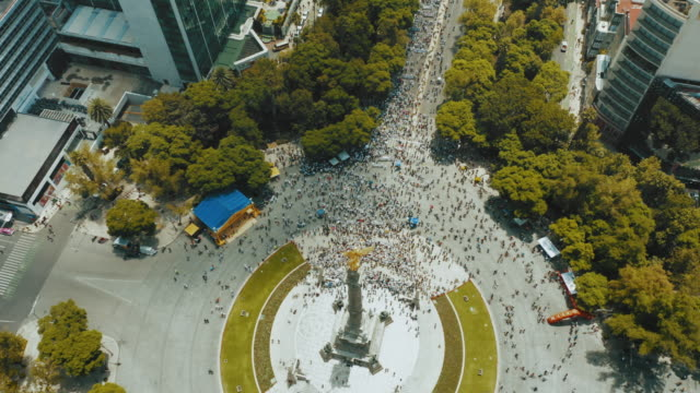 crowd marching in mexico city - mexico city stock videos & royalty-free footage