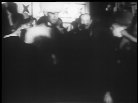 b/w 1935 crowd milling about at jumbo opening on broadway / hippodrome theater baltimore - 1935 stock videos & royalty-free footage