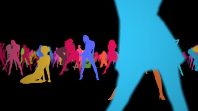 stockvideo's en b-roll-footage met crowd of atractive girls - vrouwelijke gestalte