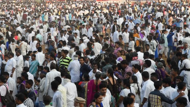 crowd of people at mumbai, india. - pavement stock videos & royalty-free footage
