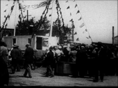 crowd of people at outdoor mother jordan's soup kitchen / san francisco - 1931 stock videos & royalty-free footage
