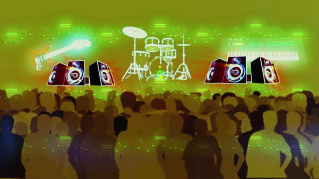 vídeos y material grabado en eventos de stock de crowd of people in a concert, abstract background - filtración de luz