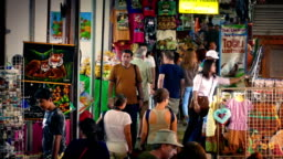 Crowd Of People In Asian Market