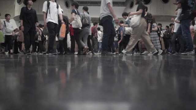 crowd of people - tradeshow stock videos & royalty-free footage