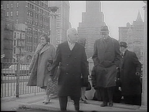 crowd of people walking up stairs exiting subway station / nyc / newsreel - 1966 stock videos & royalty-free footage