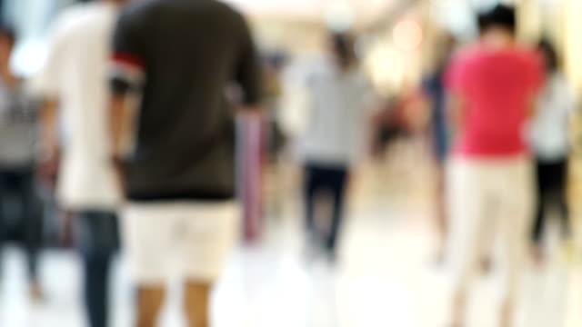 Menge der Einkäufer in einem anstrengenden Shopping Mall