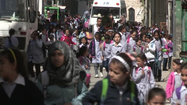 Crowd of Students, Balata Refugee Camp, Palestine