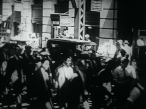 b/w 1932 crowd of wwi veterans in bonus march / nyc - 1932 stock videos and b-roll footage