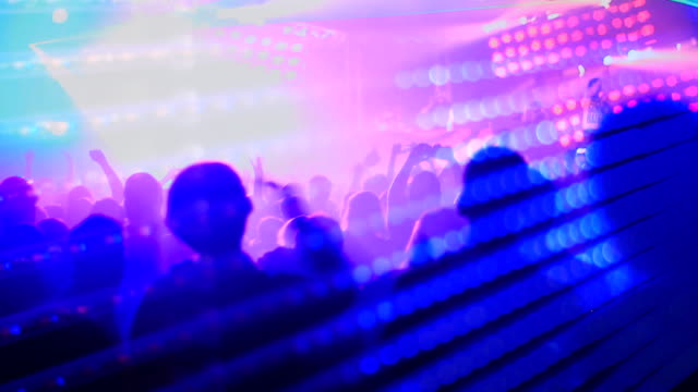 crowd on a dance floor - entertainment club stock videos & royalty-free footage