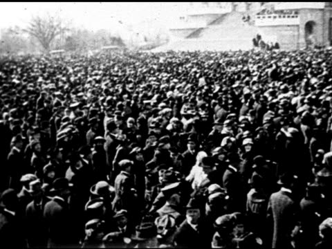 crowd on capitol hill, east portico of capitol building filled w/ people, president warren g. harding addressing crowd . - president stock videos & royalty-free footage