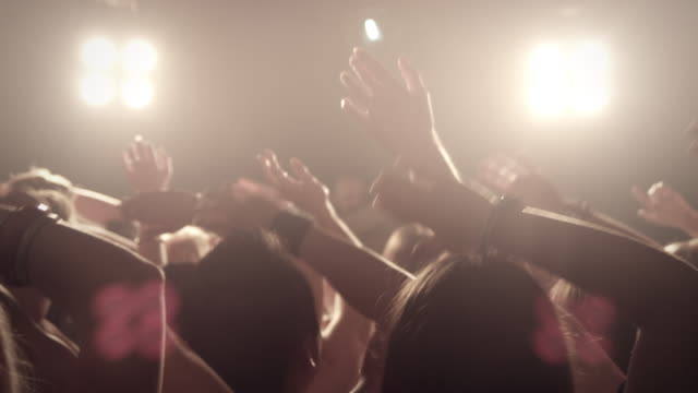 crowd on concert - medium shot stock videos & royalty-free footage