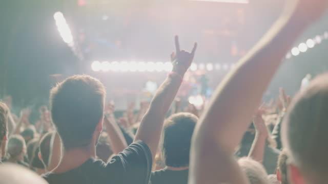 vidéos et rushes de foule sur festival - concert