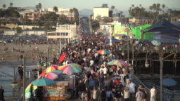 Crowd on Santa Monica Pier